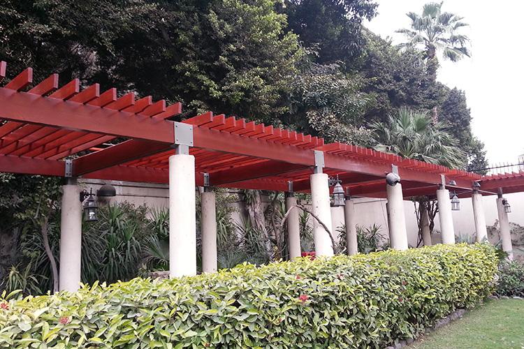American Ambassador Cairo Garden Pergola